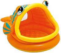 Детский надувной бассейн с навесом Рыбка Intex 57109