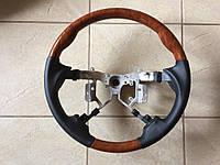 Руль Toyota Camry V40 2006-2012 (черная кожа + дерево) OE-type