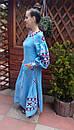 Платье  бохо вышиванка лен, этно, стиль бохо шик, вишите плаття вишиванка, Bohemian,стиль Вита Кин, фото 4