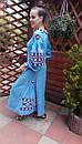 Платье  бохо вышиванка лен, этно, стиль бохо шик, вишите плаття вишиванка, Bohemian,стиль Вита Кин, фото 5