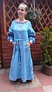 Платье  бохо вышиванка лен, этно, стиль бохо шик, вишите плаття вишиванка, Bohemian,стиль Вита Кин, фото 8