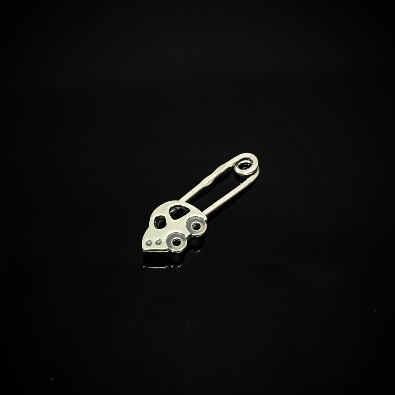 Серебряная детская булавка Автомобиль