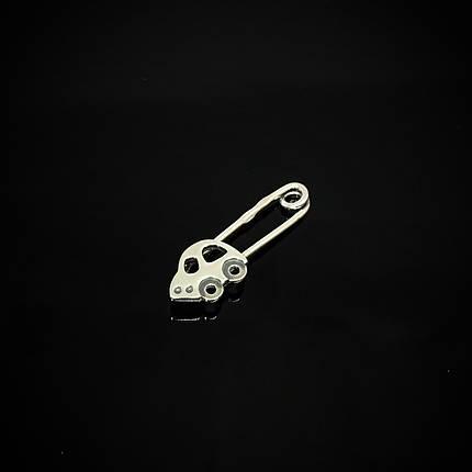 Серебряная детская булавка Автомобиль, фото 2