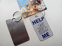 Адресники для собак и кошек металлические  серый