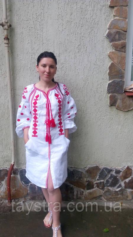 Туника вышитая платье лен, вышиванка,стиль бохо шик , Bohemian, этно,туника в Бохо-стиле