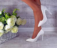 Туфли лодочки Классика белые лаковые код 5-231