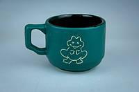 Чашка кофейная синяя с лягушкой