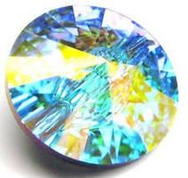 Пуговицы Swarovski 10мм*1шт Цвет Crystal AB(хамелеоны)