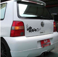 Виниловая наклейка для машины 3D цветы белые 33 см, фото 1