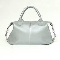 Кожаная сумка модель 20 серебро флотар, фото 1