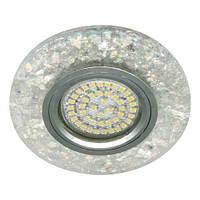 Светильник точечный  Lemanso ST155 прозрачный MR16 50W 220V G5.3 + подсветка 3W 4000K с драйвером