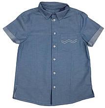 Рубашка джинсовая с коротким рукавом ТМ Бемби РБ72 на мальчика размер 122 128 134