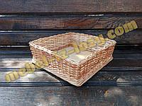 Плетеный лоток под выкладку продуктов 30х30 с высотой 8 см