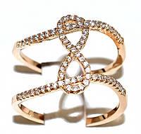 Кольцо  фирмы Xuping. Цвет: позолота. Камни: белый  циркон.Ширина кольца: 1,2 см. Есть 17 р. 19 р.