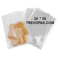 Прозрачные пакеты 20*35 для упаковки подарков, чая, кофе (уп.100шт)
