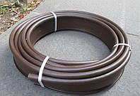 """Садовый бордюр """"Кантри"""", трубка 2см, 10м коричневый"""