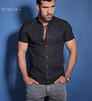 Синяя Брендовая турецкая тениска с коротким рукавом