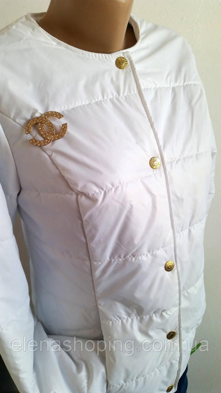 Куртка женская Шанель белая р 42-46  продажа, цена в Херсонской ... 8584f8234d3