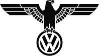 Виниловая наклейка на авто - фольксваген