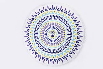 Пляжный летний коврик фиолетовый