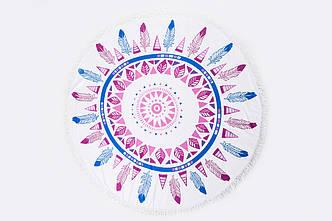 Пляжный летний коврик розовый+синий