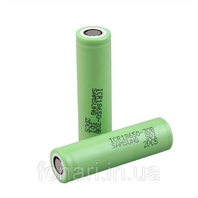 Аккумулятор Samsung ICR18650-30B Li-Ion 3000 mAh (без платы защиты)