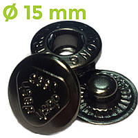 Кнопки для одежды DASH альфа блэк никель (15mm)