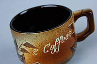 Чашка кофейная  худ. бабочка.