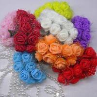 """Цветы искусственные в букетиках """"Розочки"""", из фоамирана по 12 шт."""