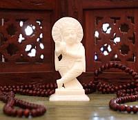 """Статуэтка """"Кришна"""" из белого мрамора (10х7х3,5 см)"""