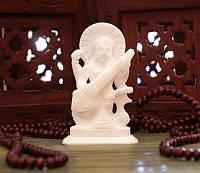 """Статуэтка """"Сарасвати"""" из белого мрамора (10х7х3,5 см)"""
