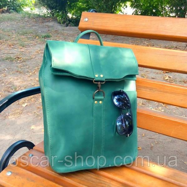 """Рюкзак на карабине из натуральной кожи """"crazy horse"""""""