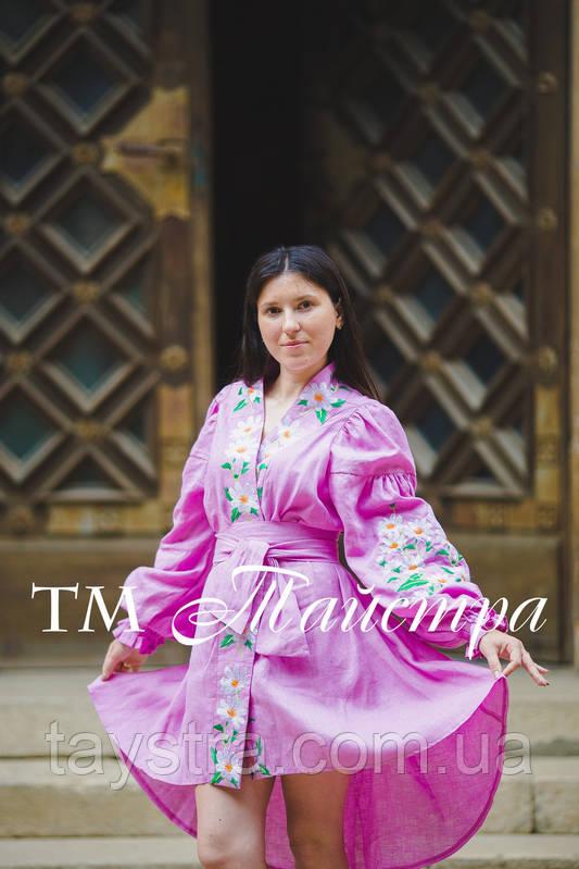 Платье бохо выпускное вышитое, вышиванка лен, этно, стиль бохо шик, вишите плаття вишиванка