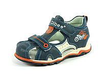 Босоножки, сандалии кожаные для мальчика р.26-31 ТM Clibee, код F-186 Беж