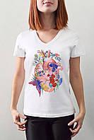 """Женская футболка """"Цветочное сердце"""""""