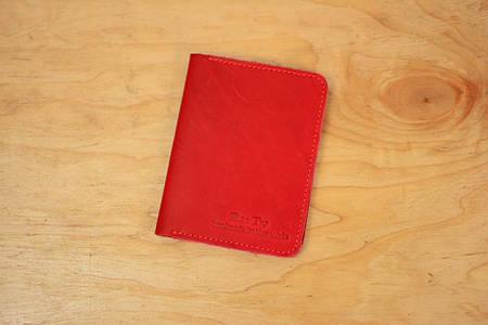 Обложка для документов  10528  Италия   Красный