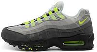 Женские кроссовки Nike Air Max 95 Grey Black (найк аир макс 95) серые/черные
