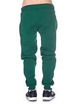 Штаны мужские теплые на флисе, темно зеленые, фото 2