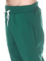Штаны мужские теплые на флисе, темно зеленые, фото 3