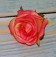 Головка розы розово-оранжевая(кораловая)