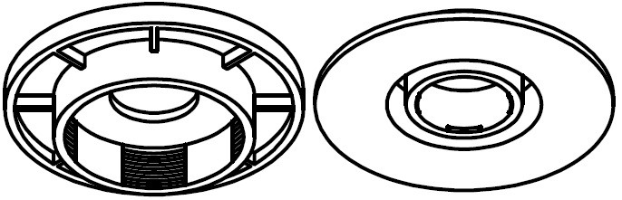 Клипса крепления ковров Ford с 2011- (round type)