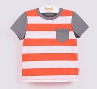 Футболка для мальчика Бемби Моряк, оранжевый (р.80,86,92,98)