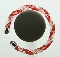 Модные женские браслеты жгуты из стекляруса 1131