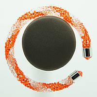 Модные кольца- браслеты- жгуты из стекляруса 1132