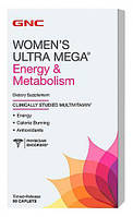 Womens Ultra Mega Energy and Metabolism GNC, 90 таблеток