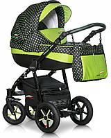 Коляска универсальная 3 в 1 Verdi Pepe Eco 01 Green dots 