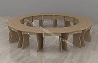 Комплект детских столов регулируемых 595*450*42600h
