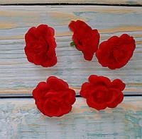 Головка мини розы красная