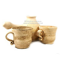 Турка и две чашки керамические ручной работы 9318