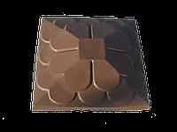 "Крышка для забора LAND BRICK ""луска"" коричневая 450х450 мм"